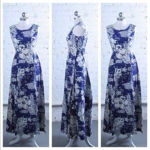 Dresses & Skirts - Vintage 1960s Linen Hawaiian Dress Bark Cloth